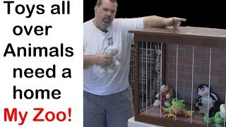 Build a stuffed animal zoo – We built a zoo! (how to)