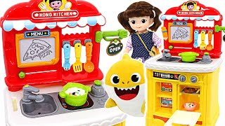 Baby shark, Pinkfong~ Let's eat! Kongsuni cooks deliciously with the Kitchen game set~ | PinkyPopTOY
