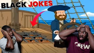 TRY NOT TO REACT - Family Guy Risky Black Jokes REACTION