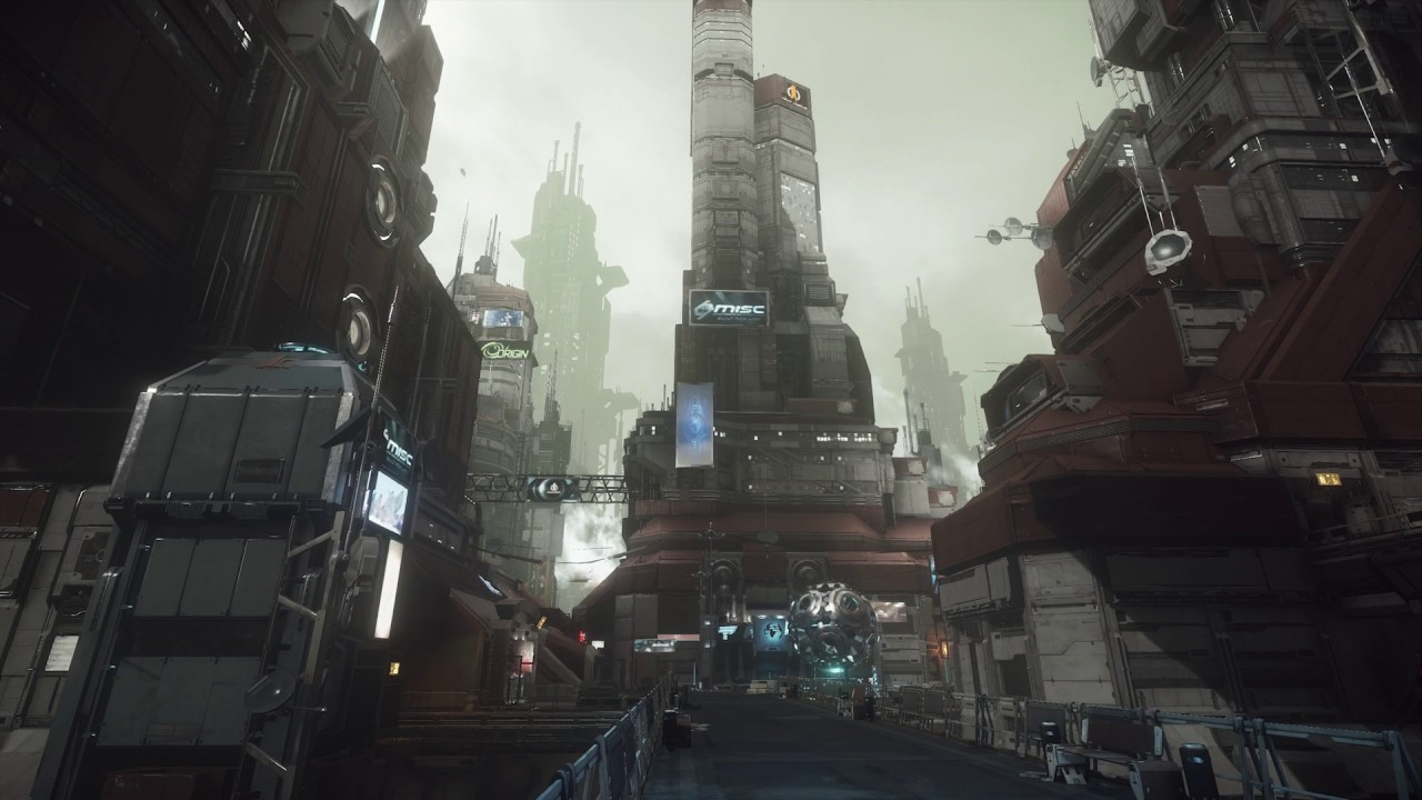 Free Animated 3d Live Wallpaper Star Citizen Arccorp Video Wallpaper Mainsquare Youtube