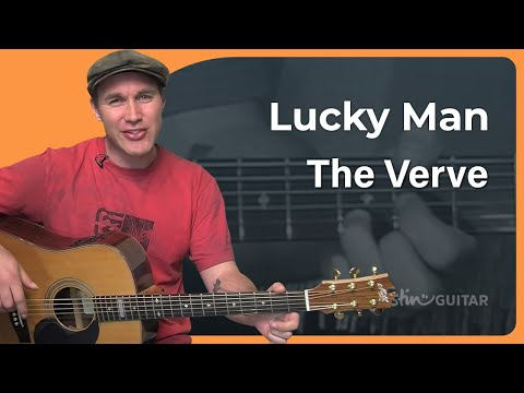 Lucky Man - The Verve (Easy Beginner Song Guitar Lesson BS-703) How to play