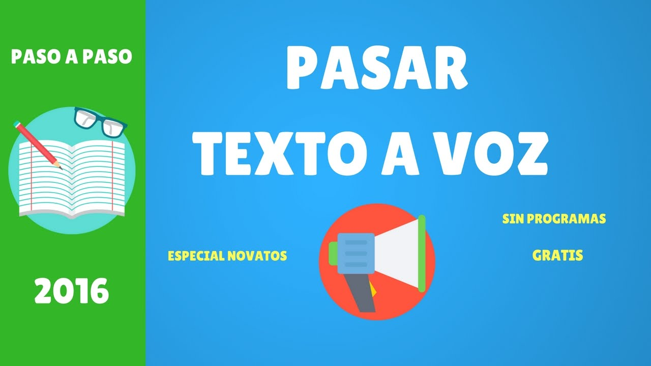 Tutorial Ttsreader Pasar Textos A Voz Youtube