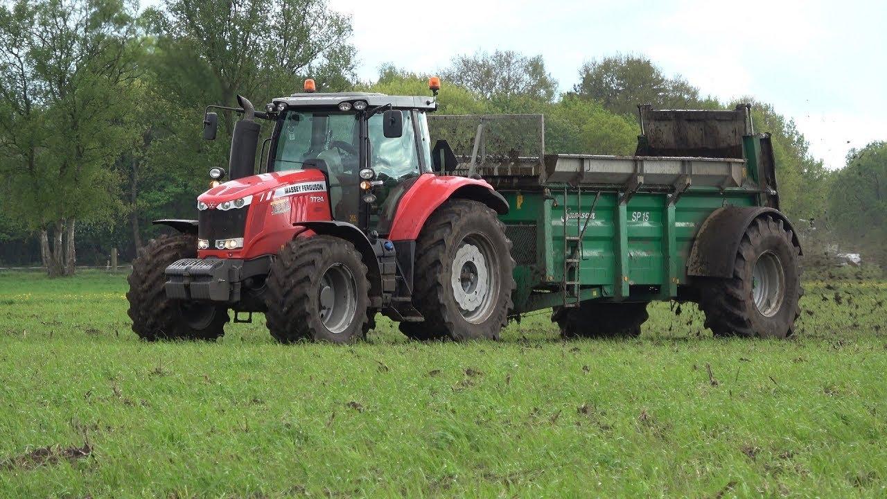 Download Massey Ferguson 7724 Dyna VT met Samson SP15 meststrooier - Loonbedrijf Reimink (2018)