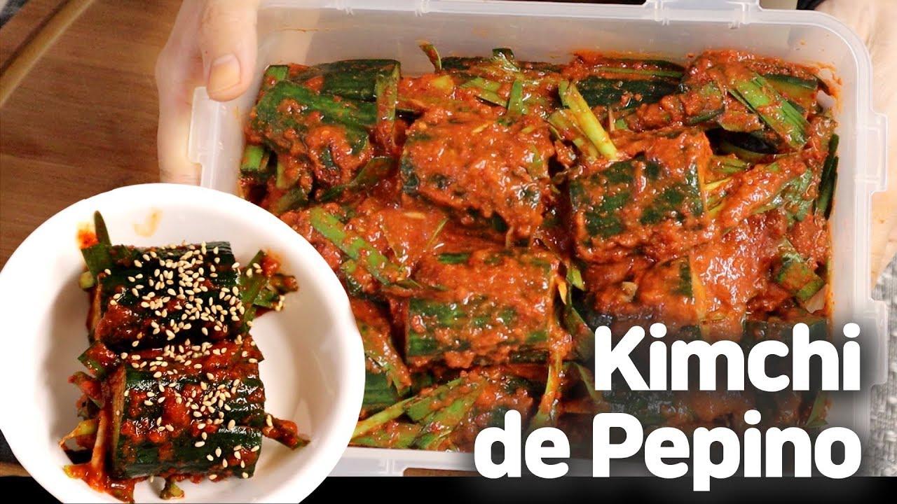 Como Hacer Kimchi De Pepino Comida Coreana Recetas En Español Comidacoreanarecetas