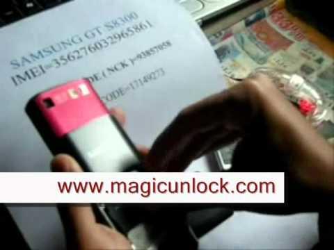 HOW TO UNLOCK / Entsperren BY IMEI Handy SAMSUNG GT S8300 WAVE Netzsperre code many more models