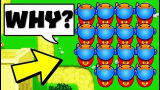 using the WORST lategame strategy VS the LUCKIEST strategy.... (Bloons TD Battles)