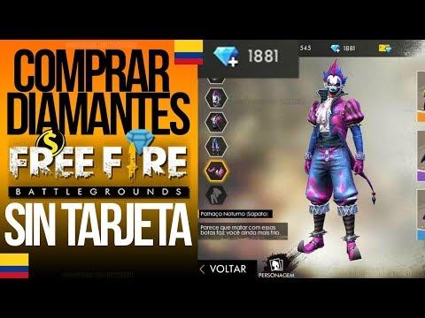Comprar DIAMANTES en FREE FIRE desde COLOMBIA | Sin Tarjeta de Crédito | Vía Efecty