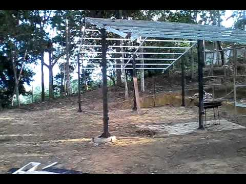 Kiosko Palonegro Estructura Metálica Cubierta Youtube