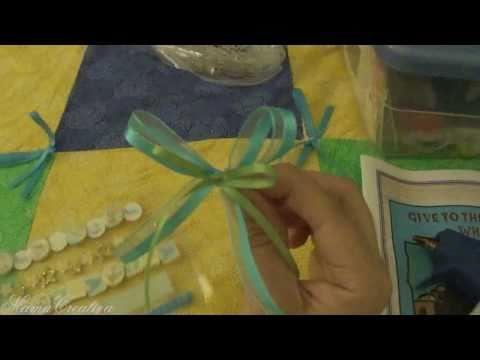Tutorial de como hacer capias o corsage para baby shower