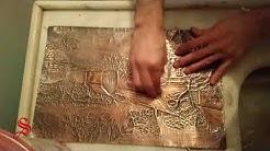Bakır Rölyef Manzara - Copper Relief Landscape