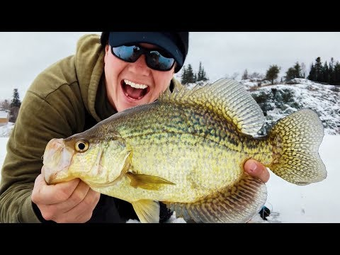 Early Ice SLAB Crappies! (and The Best Camera For Filming Fishing)