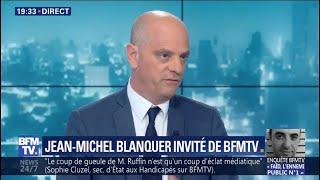 Jean-Michel Blanquer juge l'attaque de François Ruffin