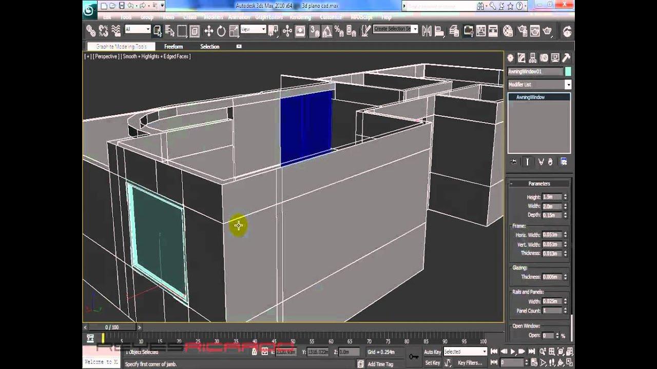 crear puertas y ventanas en 3dmax youtube