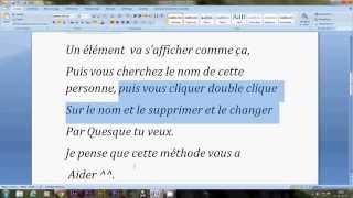(TUTO FR) - Comment Changer Le Nom D'une Personne Sur Facebook Sans Logiciel 2014