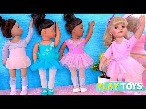 Gotz Baby Doll Ballet Class! AG, OG Dolls Ballerina Dress!
