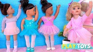Gotz Baby Doll Ballet Class! AG, OG Dolls Ballerina w/ crying cute little baby doll pretend play!