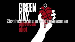 Green Day - Holiday [CLEAN LYRICS]