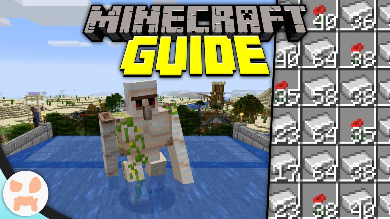 Minecraft 1 15 Iron Farm Minecraft Guide Episode 43 Minecraft 1 15 2 Lets Play Youtube