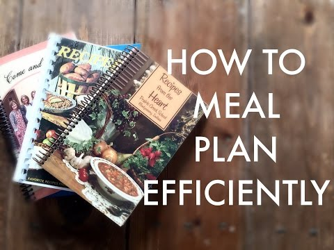 Efficient Menu Planning & Grocery List