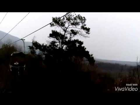 Cable Cars over Purple Mountain