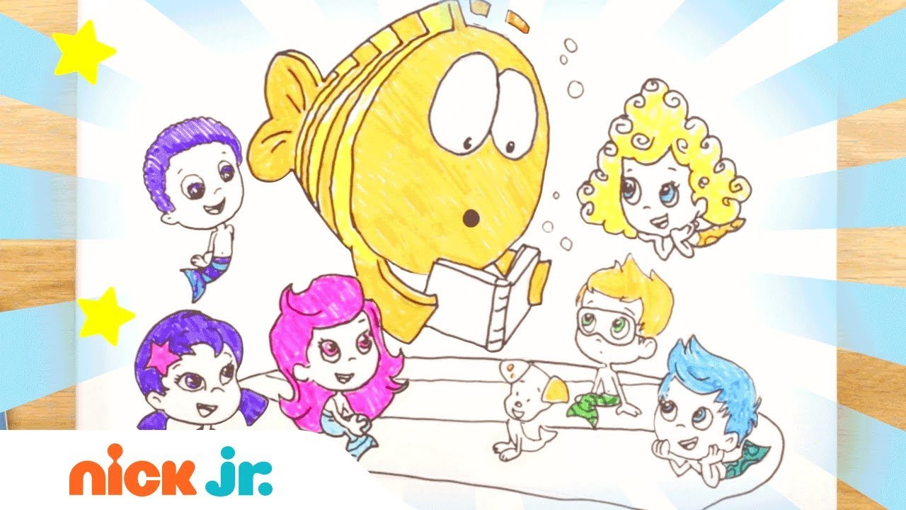 how to draw bubble guppies