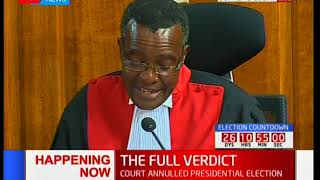CJ David Maraga outlines the categorical caution that was ought to be made by the IEBC