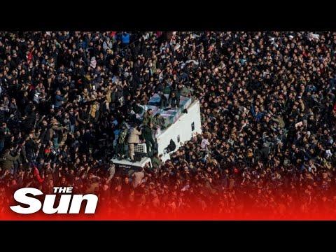 Qasem Soleimani Funeral - Burial In Iran Postponed After Stampede | LIVE