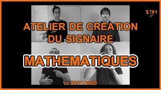Atelier de création du signaire MATHEMATIQUES