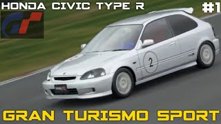Gran Turismo Sport Honda Civic Type R Cockpit View Gameplay With Replay - World Hatchback Race 1