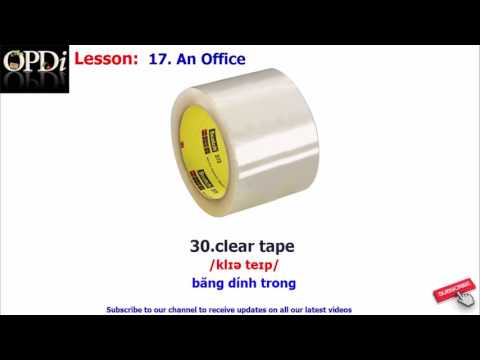 Oxford Dictionary - 17. An Office - Learn English Vocabulary With Picture