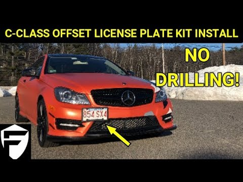 MERCEDES HOW TO: INSTALL TOW HOOK LICENSE PLATE RELOCATION KIT