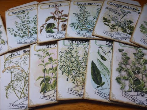 junk journal herbal seed packets DIY and give away