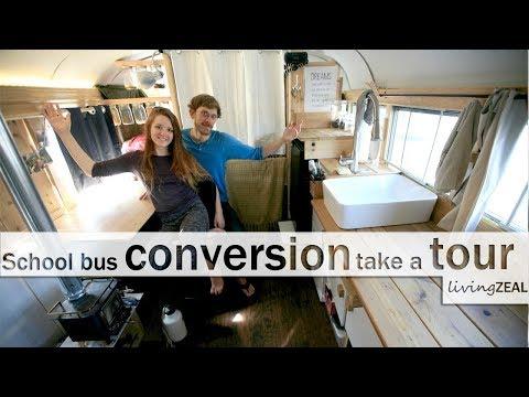 SKOOLIE BUS CONVERSION TINY HOUSE TOUR!