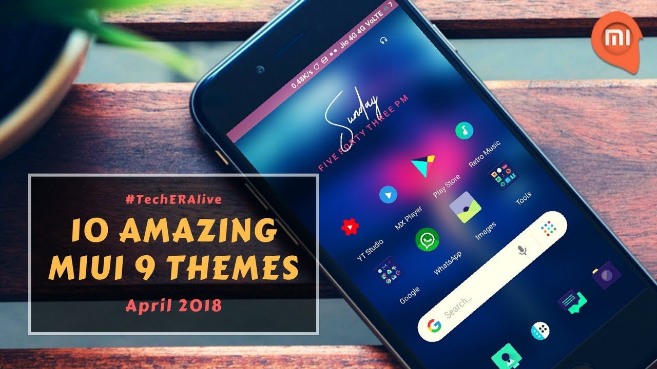 Top 10 Amazing Themes For MiUi 9 | April 2018 | Redmi Note 4 | Redmi Note 5  Pro | Redmi 5