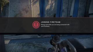 Joining Fireteam glitch