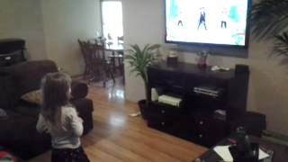 3 year old Danica is a whiz at using Xbox 360 Kinect