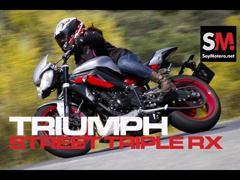 Triumph Street Triple Rx SE 2015: Prueba Naked - YouTube
