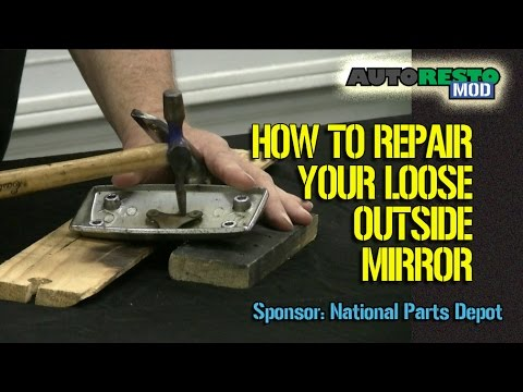 How To Fix Loose Outside Or Inside Mirror On Classic Cars Episode 275 Autorestomod