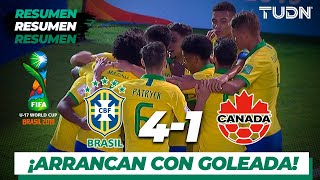 Resumen y Goles | Brasil 4 - 1 Canadá | Mundial Brasil Sub-17 - J 1 | TUDN