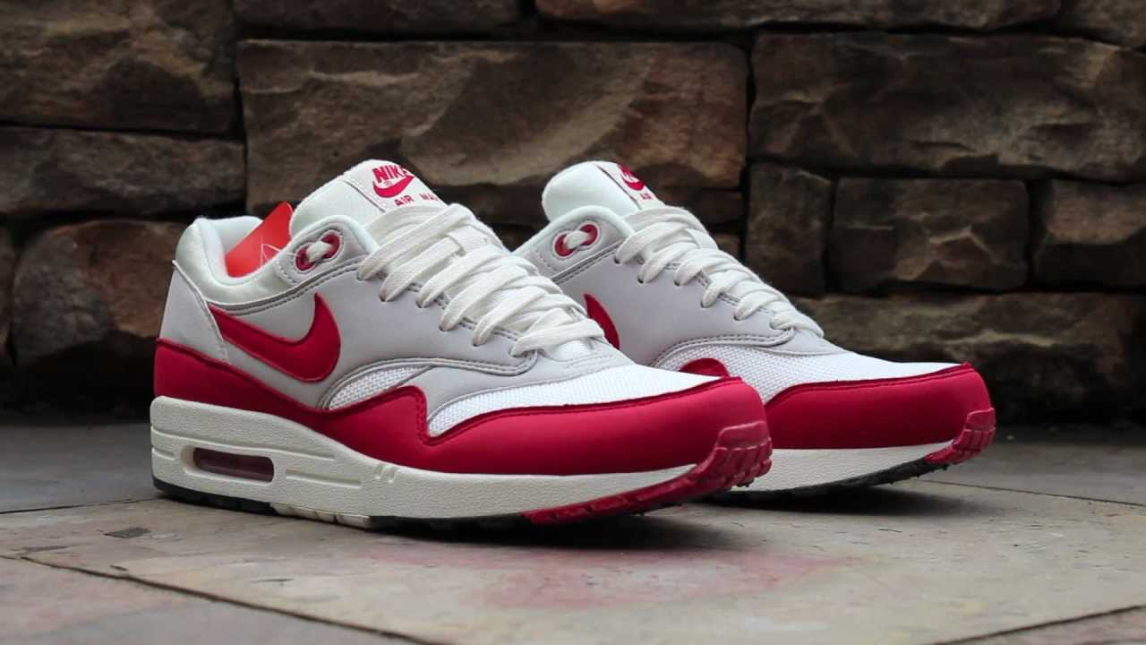Review  Nike Air Max 1 OG - University Red - YouTube 5db12e7d0