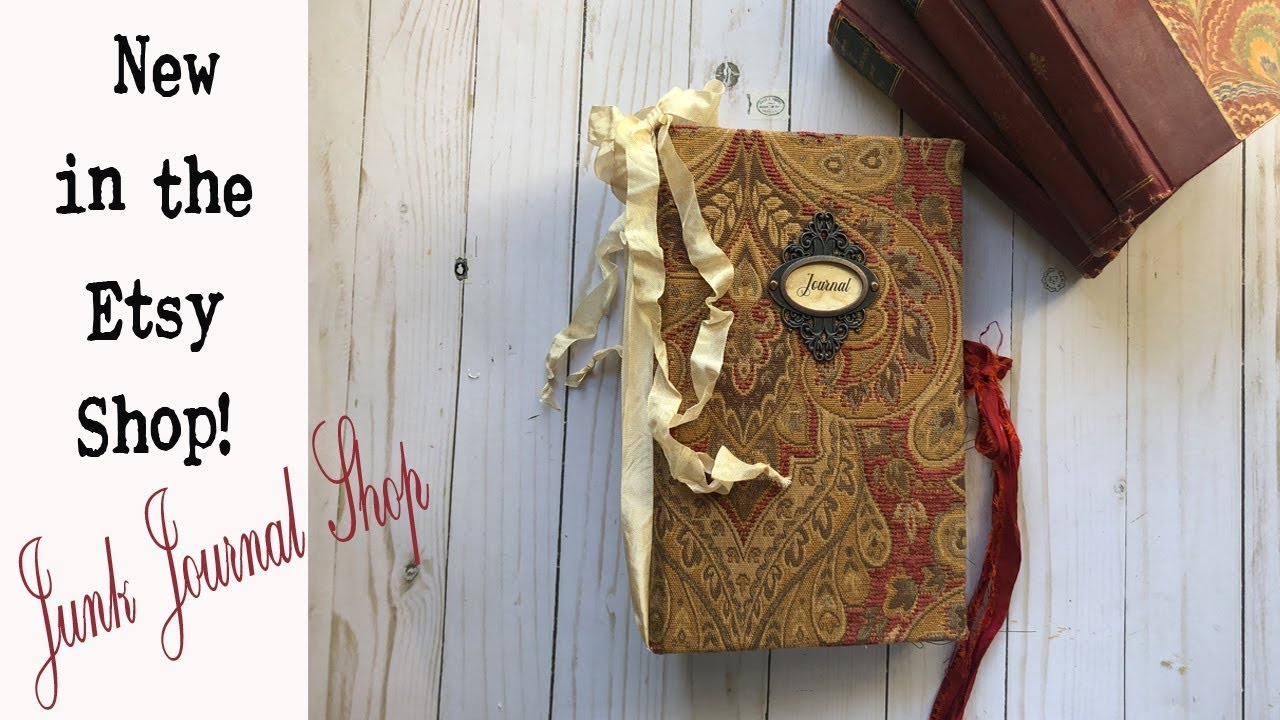 SOLD-Handmade Junk Journal- Link to view in my Etsy Shop is below: