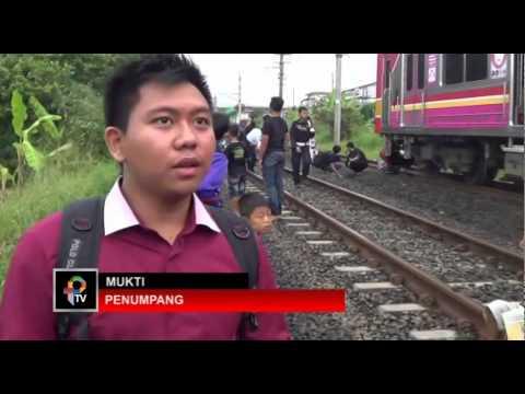 Pantograf KRL Jurusan Jakarta Bogor Patah, Penumpang Berhamburan