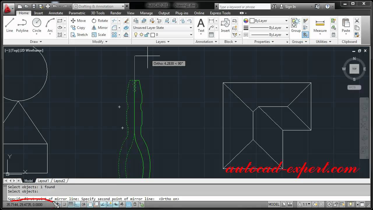 How to use command move rotate copy mirror stretch for Copy cad