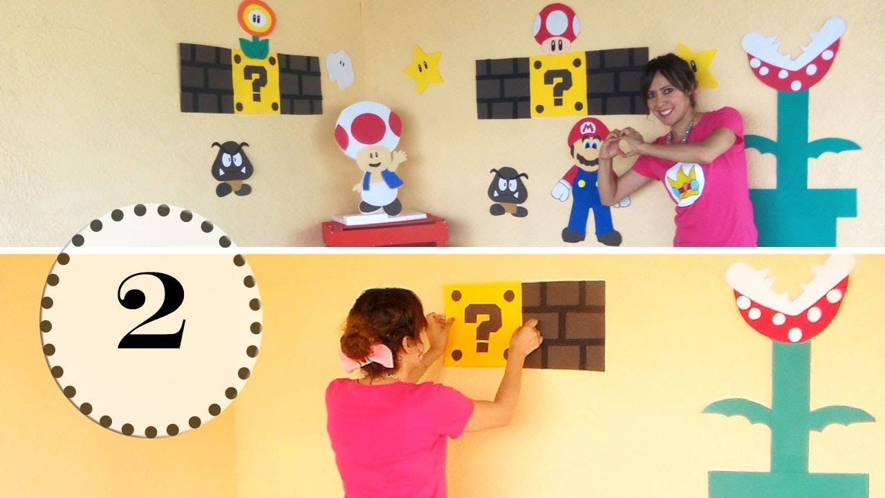 Decoracion de pared principal mario bros combo fiesta for Decoracion para paredes infantiles