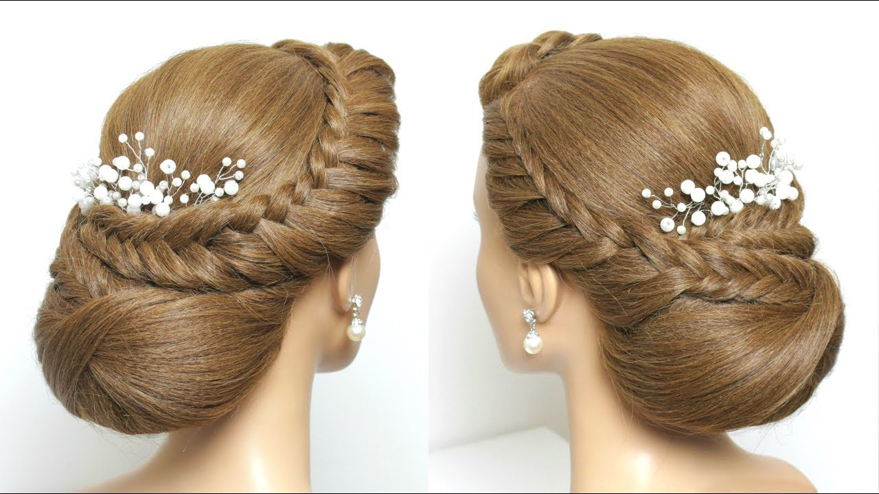 beautiful juda hairstyle for long hair. step by step