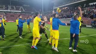 Tricolorii U21 au sărbătorit după succesul cu Țara Galilor