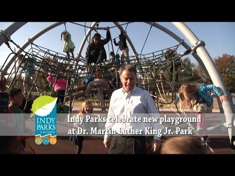 Indy Parks celebrate new playground at Dr. Martin Luther King Jr. Park