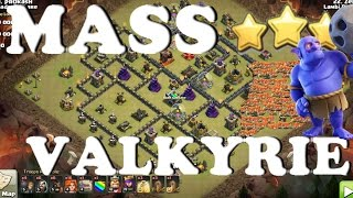 TH9 MASS VALKYRIES + Bowlers - Easy 3 Star Attack Strategy | Clash of Clans