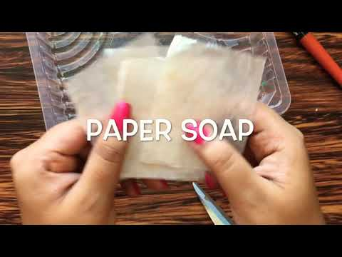 Paper Soap At Home | 1-Minute DIYs | without spending any money | Easy method