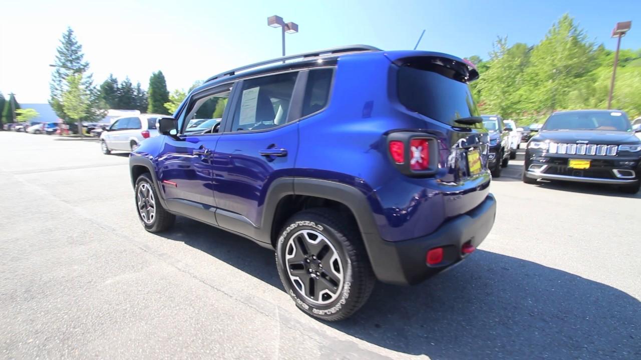 2016 Jeep Renegade Trailhawk | Jetset Blue | GPC65921 | Redmond | Seattle | - YouTube